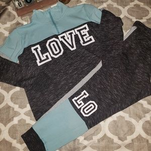 Flirtitude Active Love Sweat Outfit